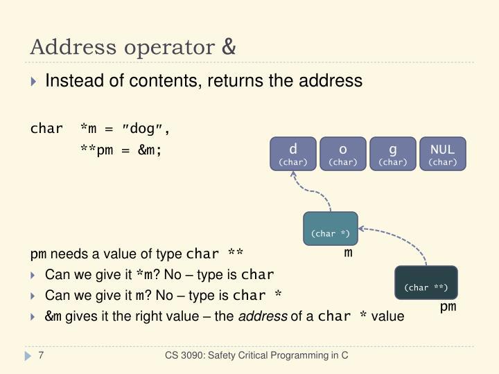 Address operator