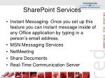 sharepoint services