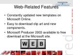 web related features