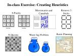 in class exercise creating heuristics