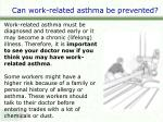 can work related asthma be prevented2