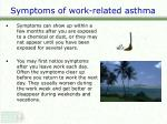 symptoms of work related asthma