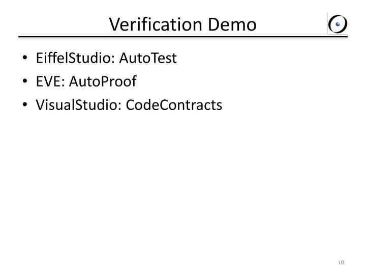Verification Demo