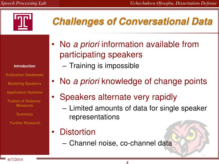 Challenges of Conversational Data