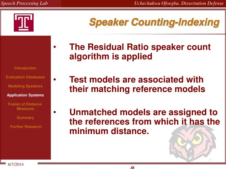 Speaker Counting-Indexing