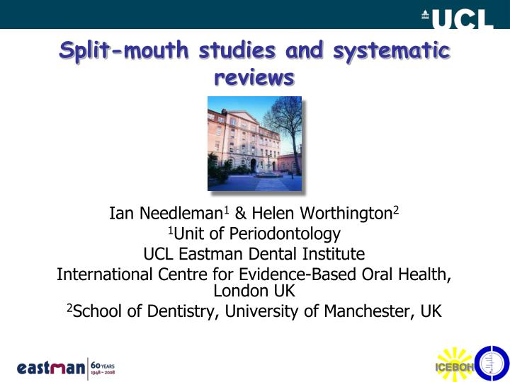 split mouth studies and systematic reviews n.