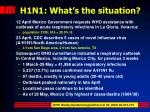 h1n1 what s the situation1