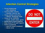 infection control strategies