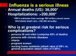 influenza is a serious illness1