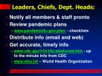 leaders chiefs dept heads