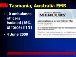 tasmania australia ems