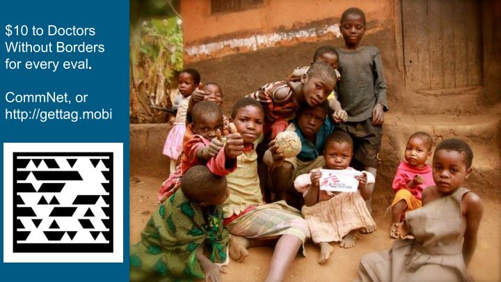 $10 to Doctors Without Borders for every