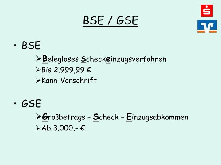 BSE / GSE