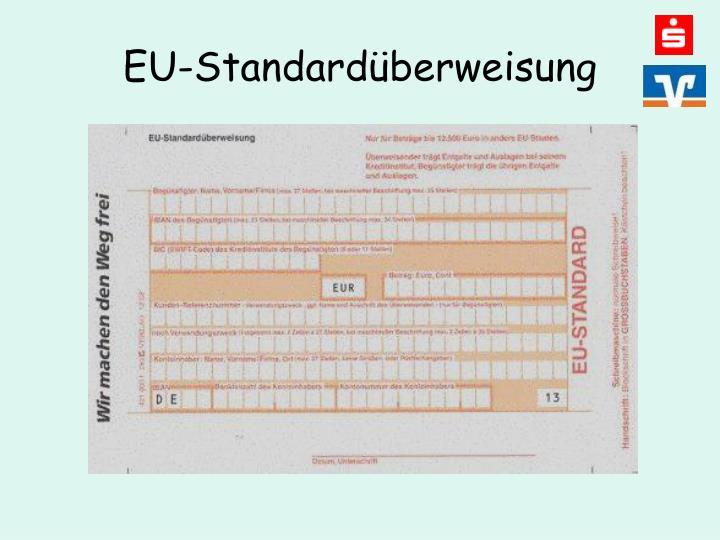 EU-Standardüberweisung