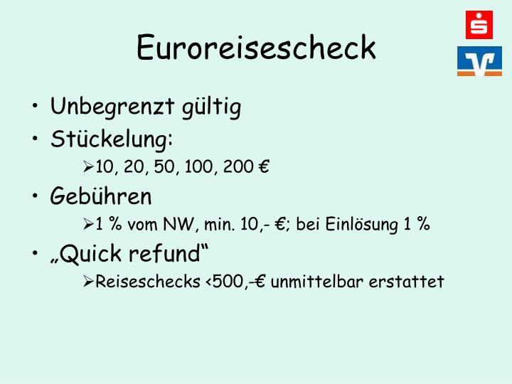 Euroreisescheck