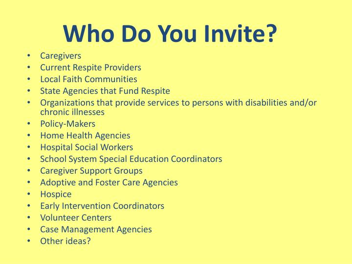 Who Do You Invite?