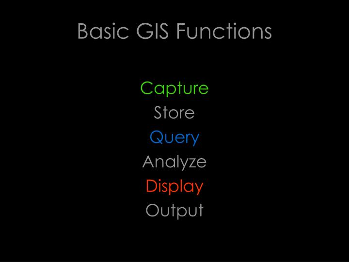 Basic GIS Functions