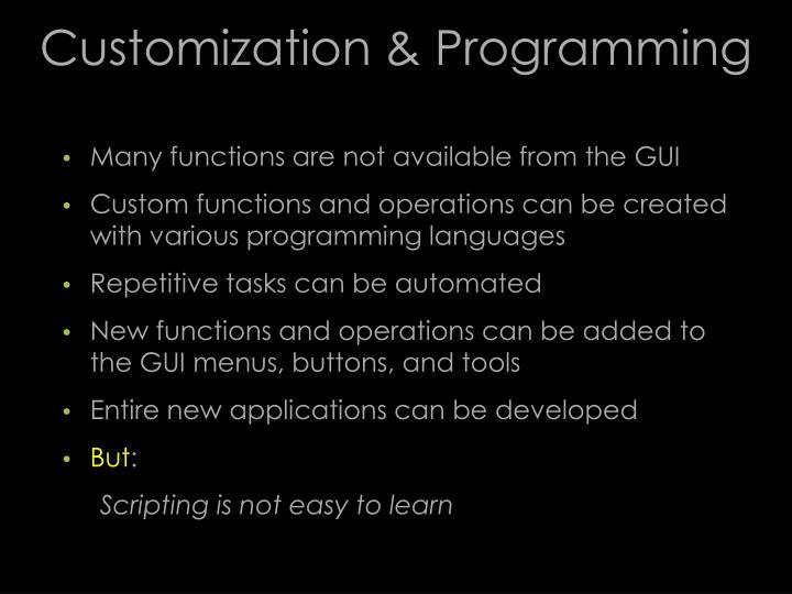 Customization & Programming