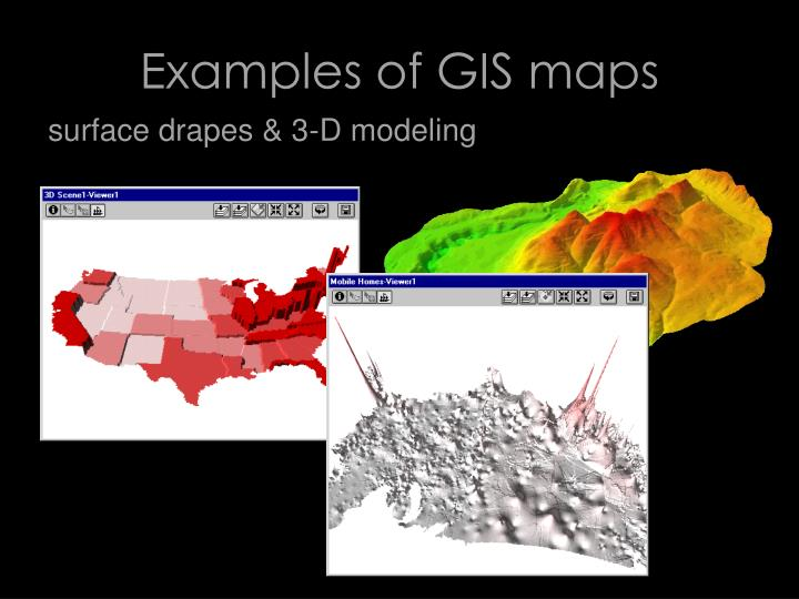 Examples of GIS maps