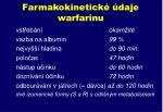 farmakokinetick daje warfarinu
