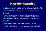 historie heparinu