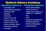 rizikov faktory tromb zy
