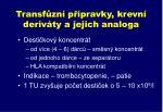 transf zn p pravky krevn deriv ty a jejich analoga