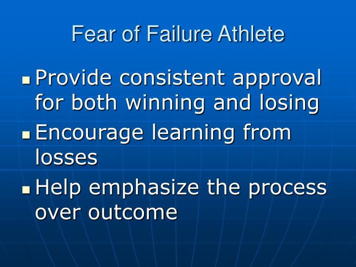 Fear of Failure Athlete
