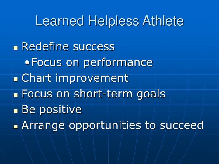 Learned Helpless Athlete