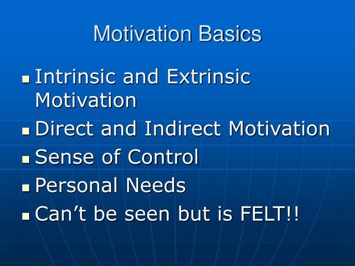 Motivation Basics