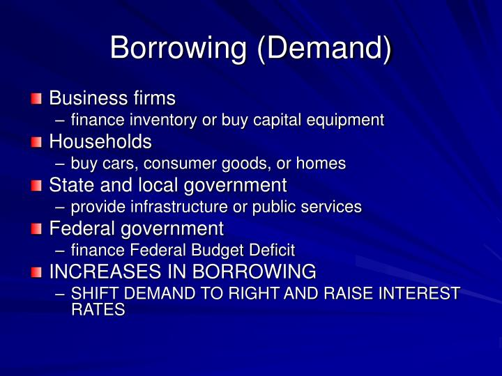 Borrowing (Demand)