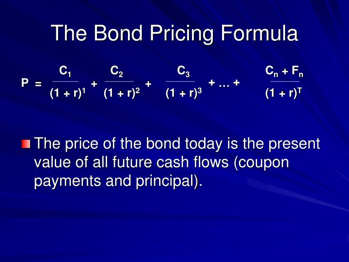 The Bond Pricing Formula