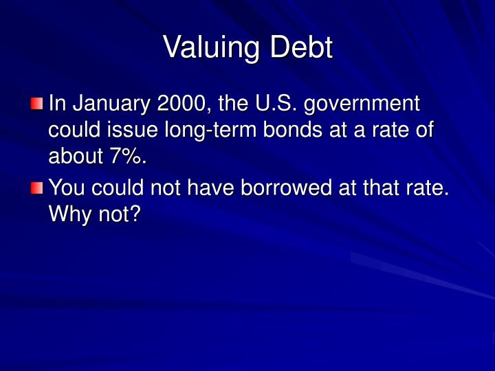 Valuing Debt