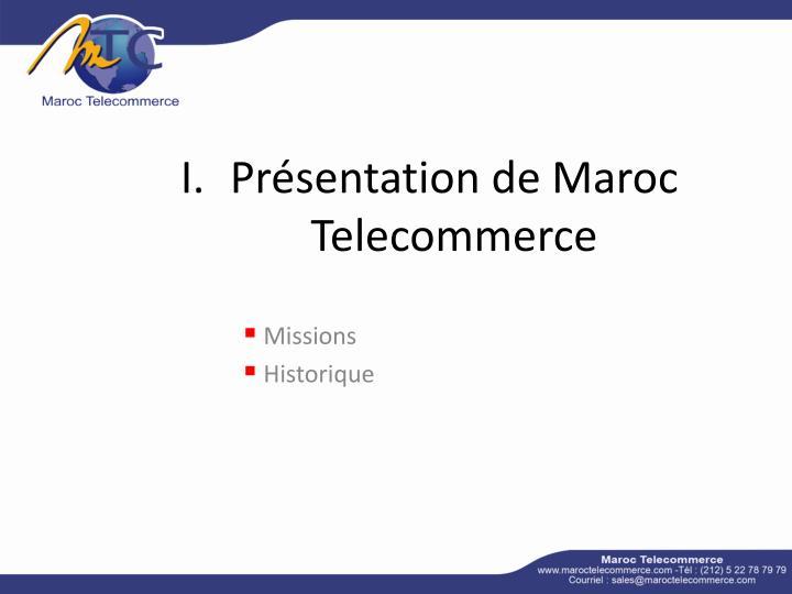 Pr sentation de maroc telecommerce