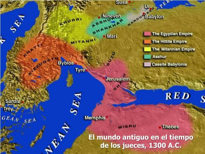 El mundo antiguo en el tiempo de los jueces, 1300 A.C.