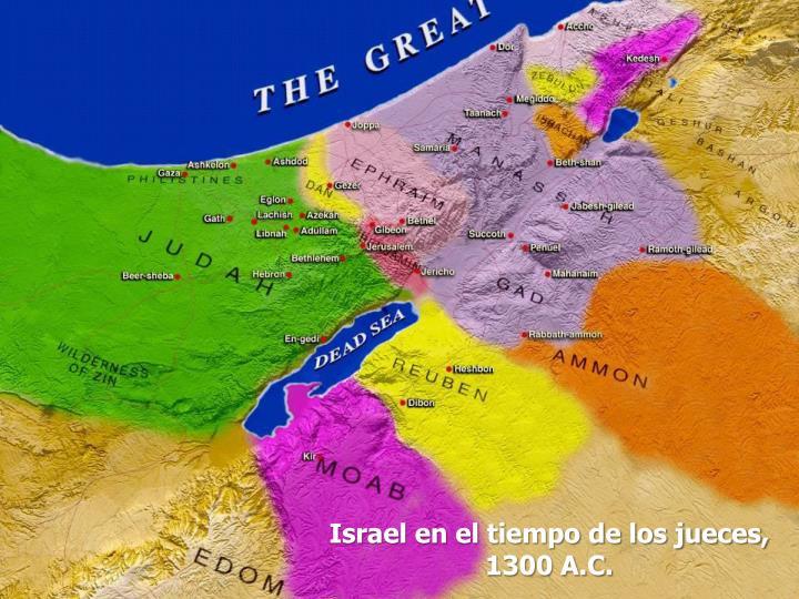Israel en el tiempo de los jueces, 1300 A.C.