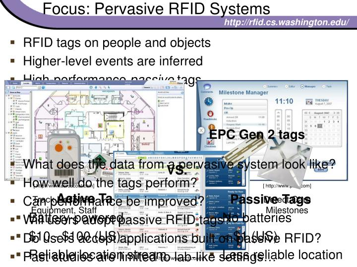 Focus: Pervasive RFID Systems