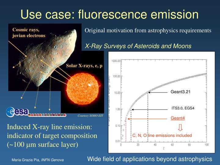Use case: fluorescence emission