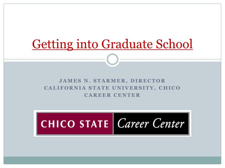 getting into graduate school n.