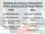 standards for literacy in history social studies science and technical subjects