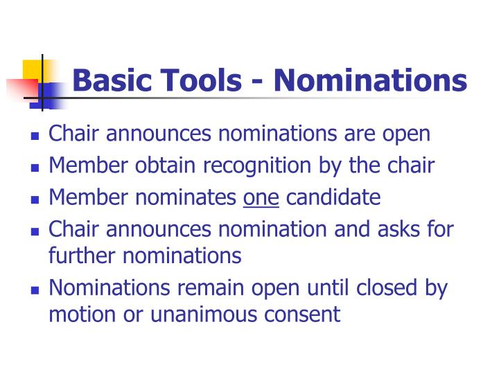 Basic Tools - Nominations