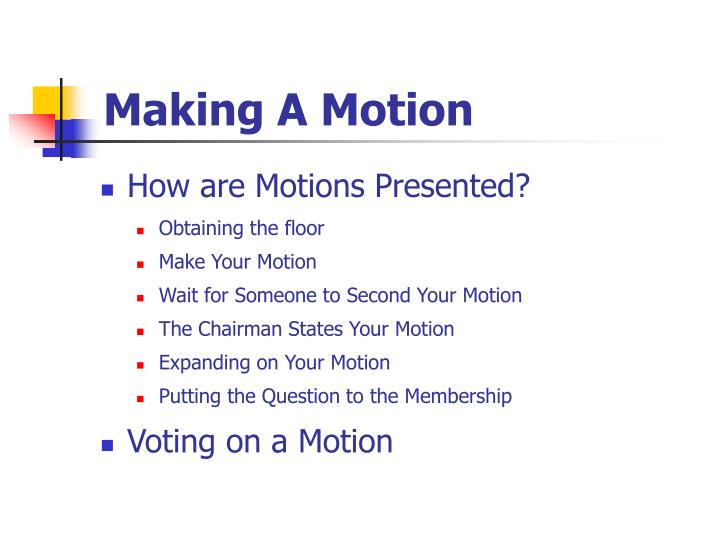 Making A Motion