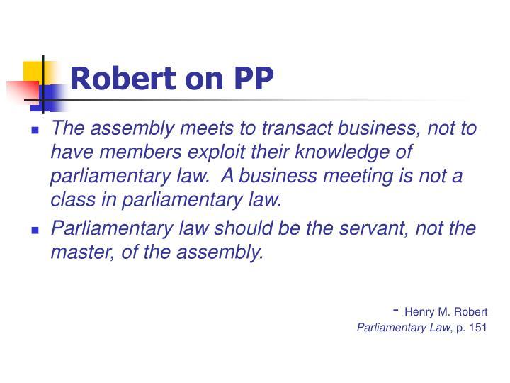 Robert on PP
