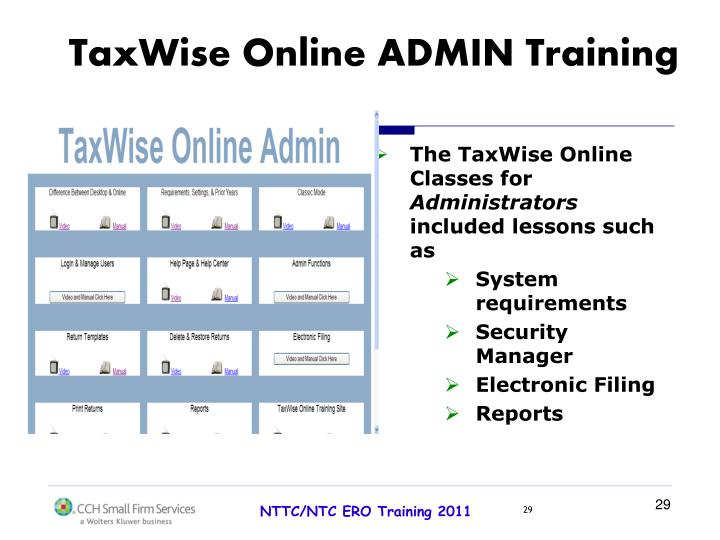 TaxWise Online ADMIN Training