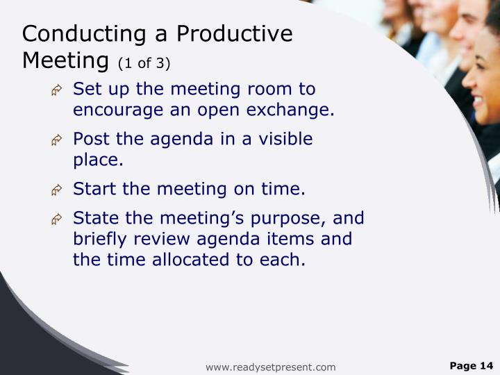 Conducting a Productive Meeting