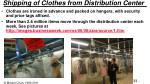 shipping of clothes from distribution center