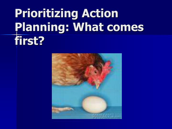 prioritizing action planning what comes first n.