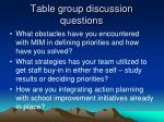table group discussion questions