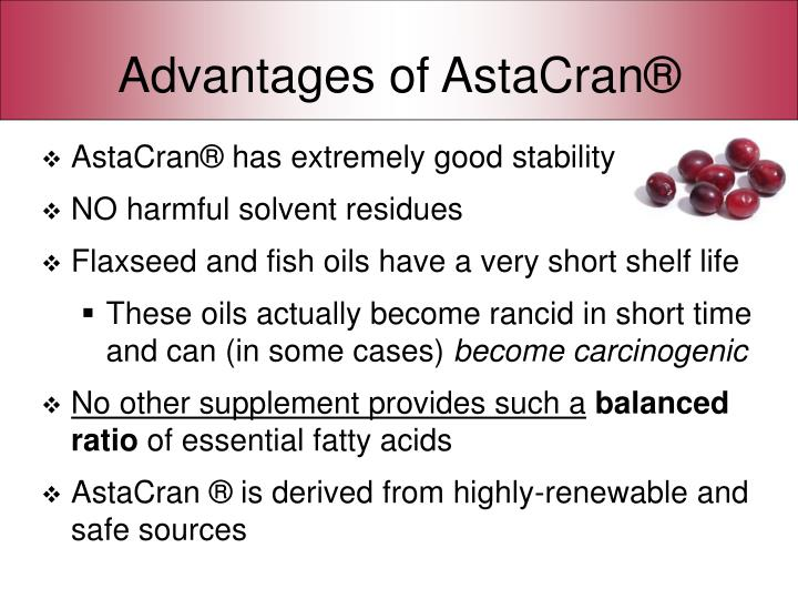 Advantages of astacran