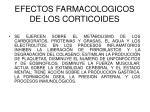 efectos farmacologicos de los corticoides